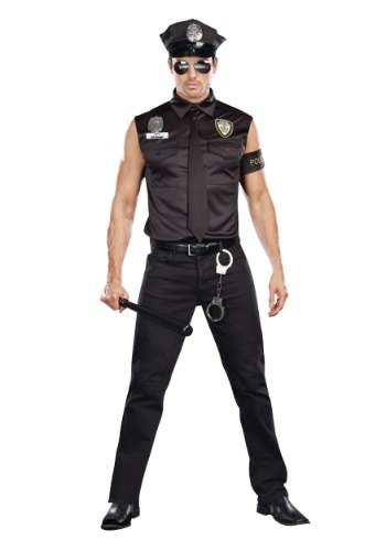 Sexy Cop Plus Size Men's Costume1