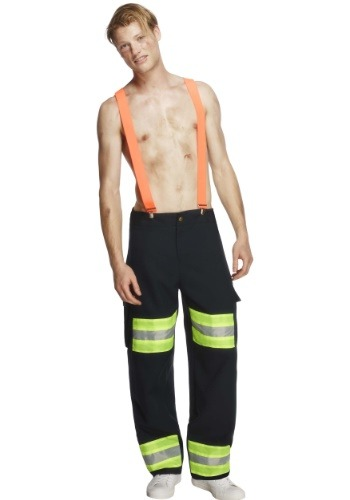 Click Here to buy Blazing Hot Firefighter Mens Costume from HalloweenCostumes, USA Funds & Shipping