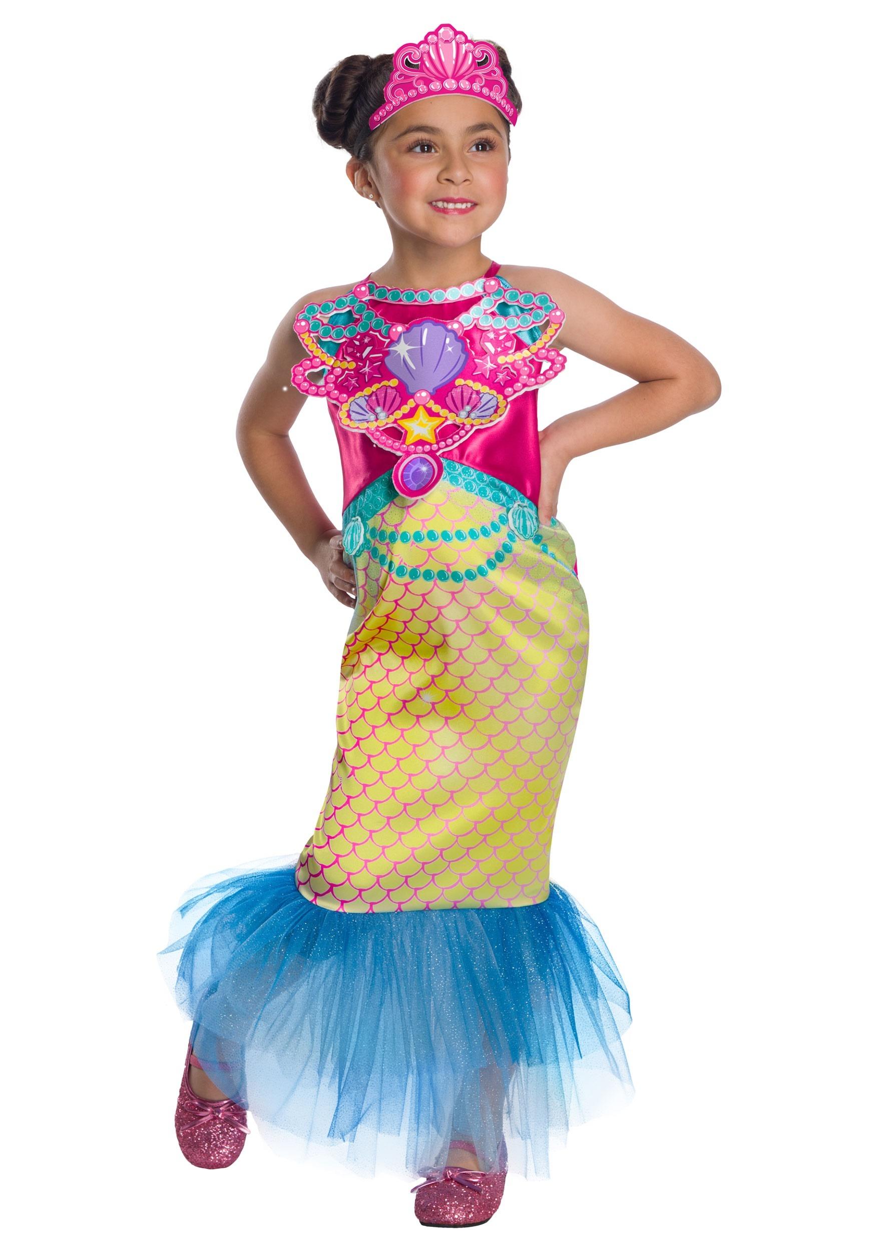 Barbie Mermaid Girls Costume