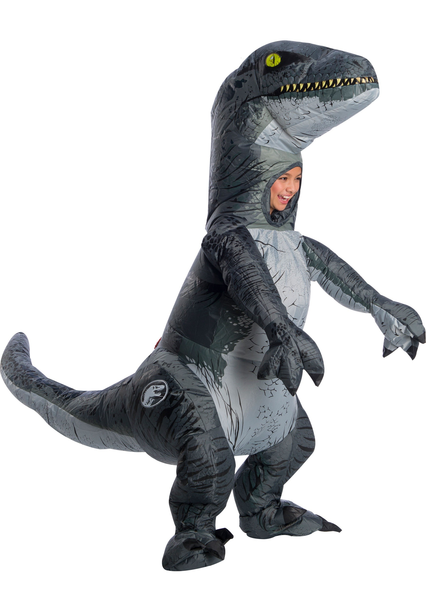 Jurassic World 2 Inflatable Blue Velociraptor Child Costume