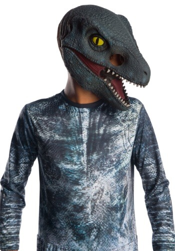 Jurassic World 2 Blue Velociraptor Kids 3/4 Mask