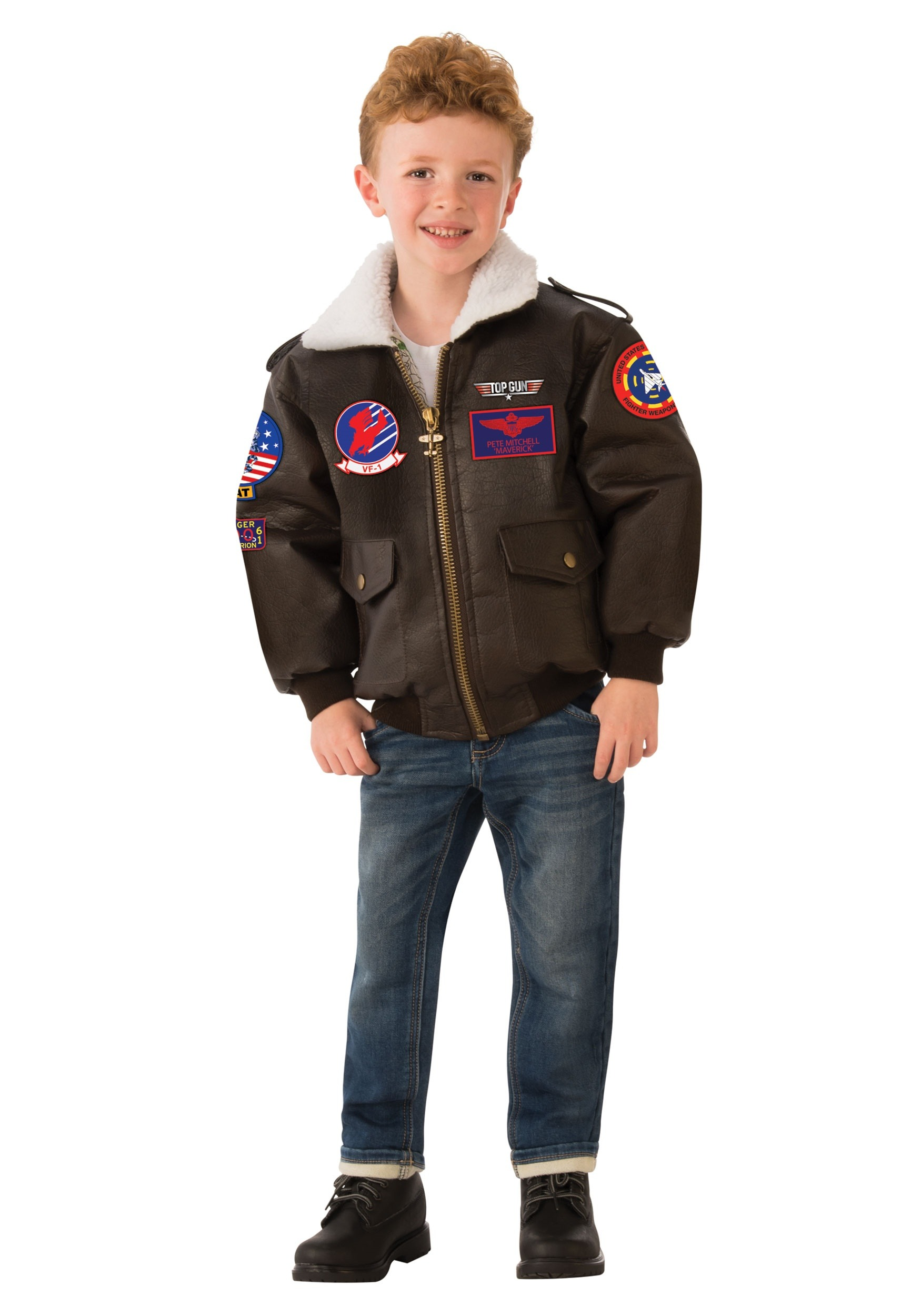Top Gun Bomber Jacket Costume For Kids