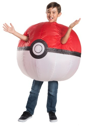 Click Here to buy Kidss Pokemon Inflatable Pokeball Costume from HalloweenCostumes, CDN Funds