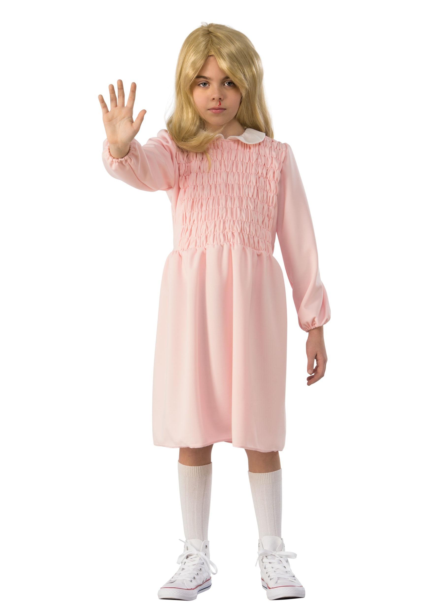 Stranger Things Eleven Long Sleeve Dress Child Costume 2d0375835744