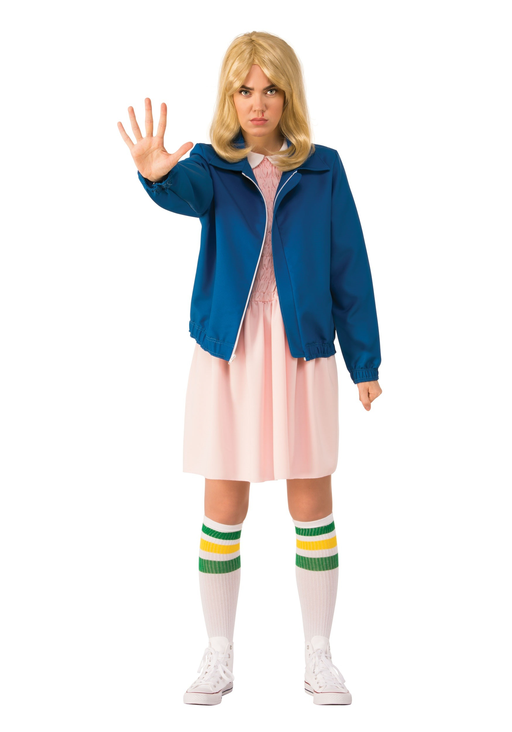 Stranger Things Eleven EL Dress Outfit Halloween Cosplay Costume Women Xmas Gift