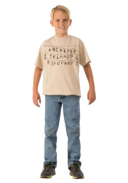 Child Stranger Things Alphabet Shirt