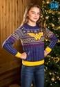 Kid's Wonder Woman Navy Ugly Christmas Sweater Alt