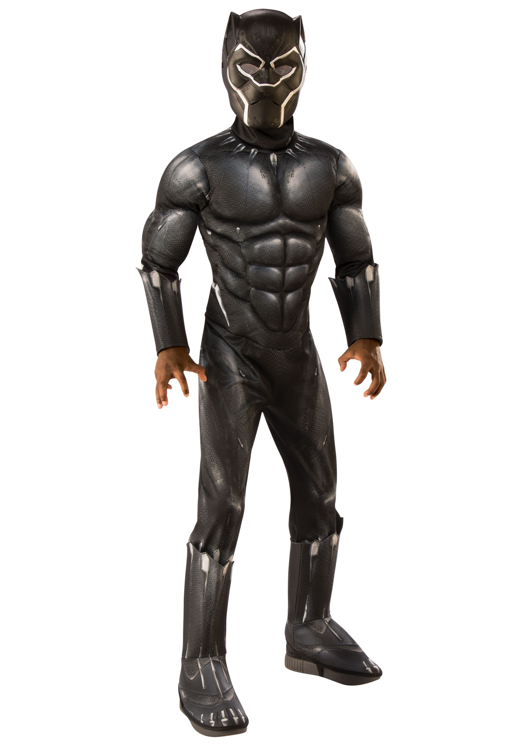 Black Panther Halloween Costumes 2020 Deluxe Black Panther Costume for Children