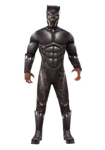 Click Here to buy Deluxe Black Panther Adult Costume from HalloweenCostumes, CDN Funds