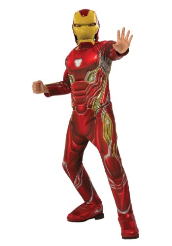 Click Here to buy Marvel Infinity War Kids Deluxe Iron Man Costume from HalloweenCostumes, CDN Funds