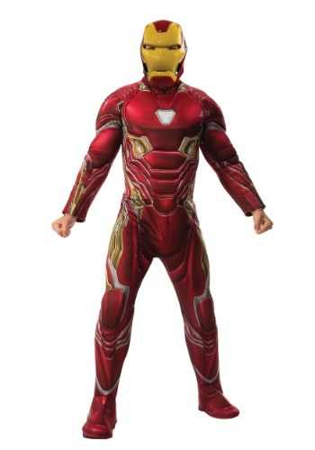 Click Here to buy Marvel Infinity War Deluxe Iron Man Mens Costume from HalloweenCostumes, CDN Funds