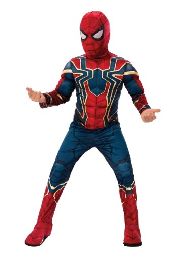 Click Here to buy Marvel Infinity War Deluxe Iron Spider Kids Costume from HalloweenCostumes, CDN Funds