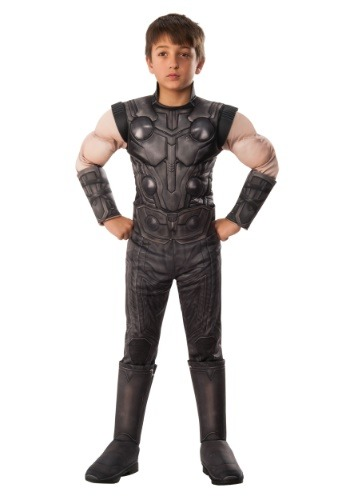 Click Here to buy Marvel Kids Infinity War Deluxe Thor Costume from HalloweenCostumes, CDN Funds