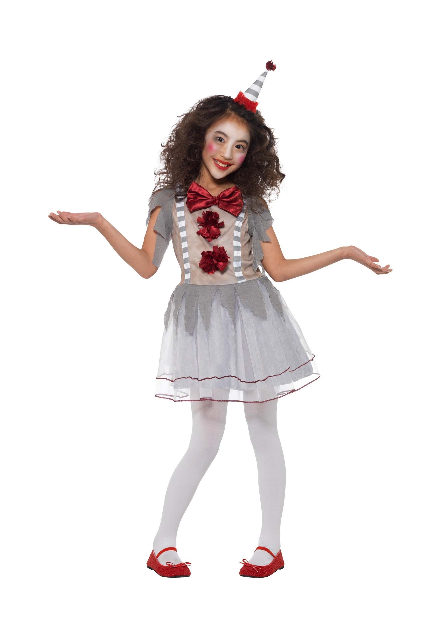 Vintage Clown Costume for Girls