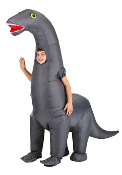 Child Giant Inflatable Brontosaurus Costume2