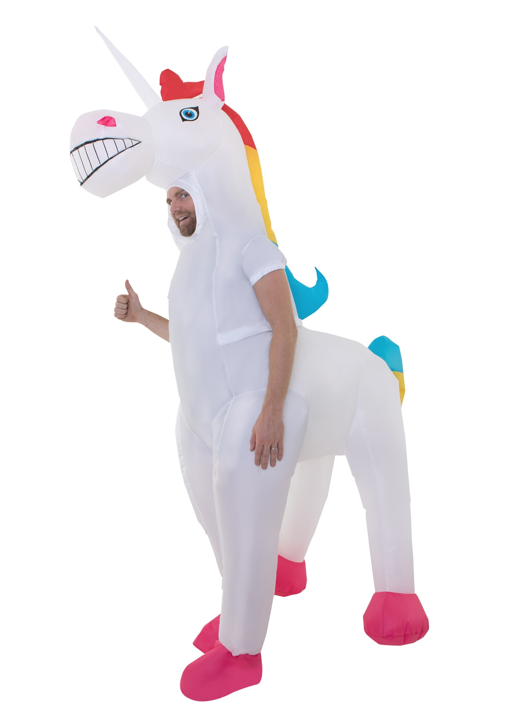 b45ff7729f6b Giant Inflatable Unicorn Costume for Adults