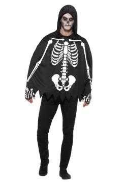 Adult Poncho Skeleton Costume2