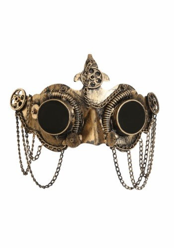 Click Here to buy Deluxe Steampunk Goggles Mask from HalloweenCostumes, CDN Funds