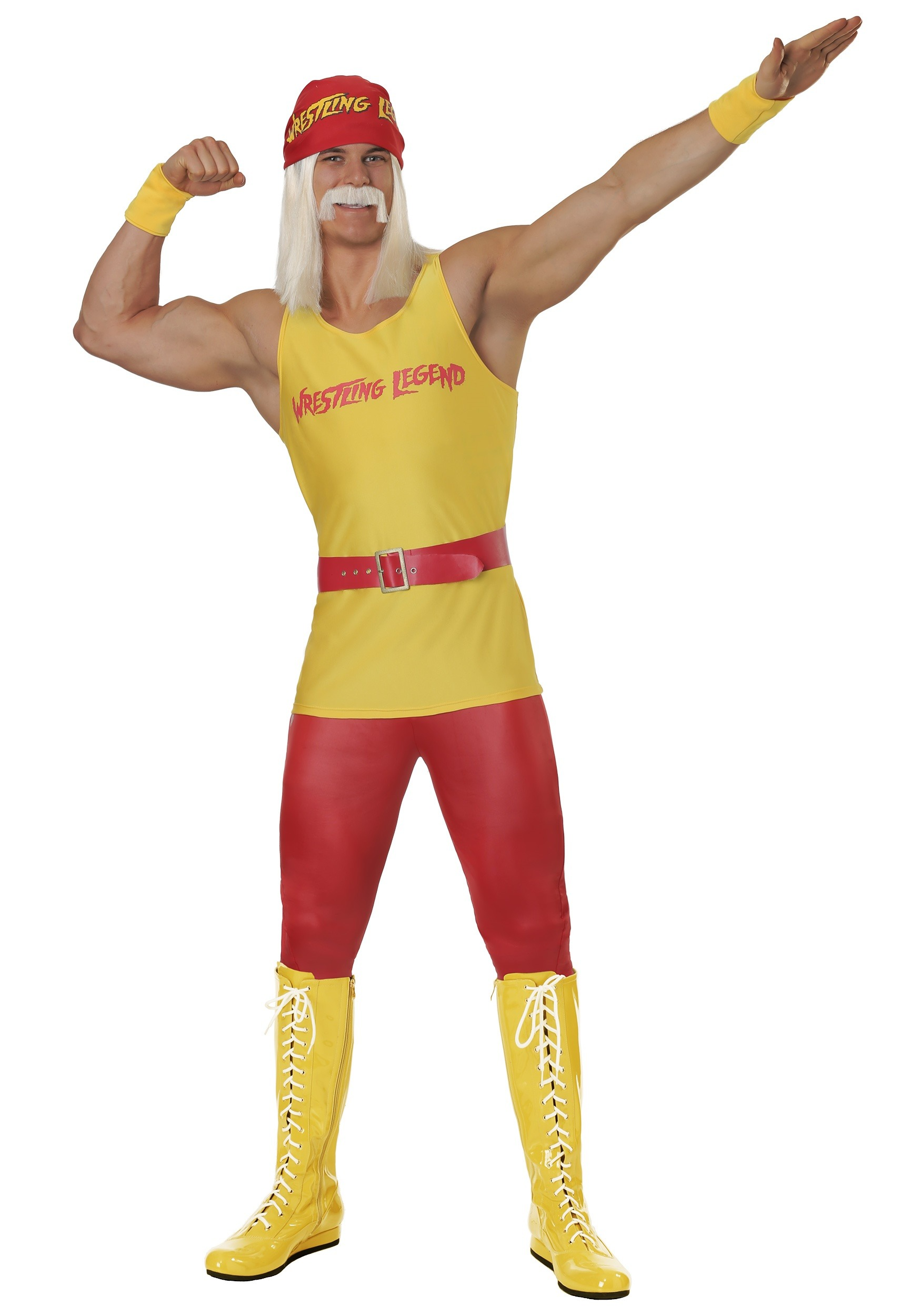 Wrestling Costume Adult Ultimate Warrior Outfit Halloween Fancy Dress