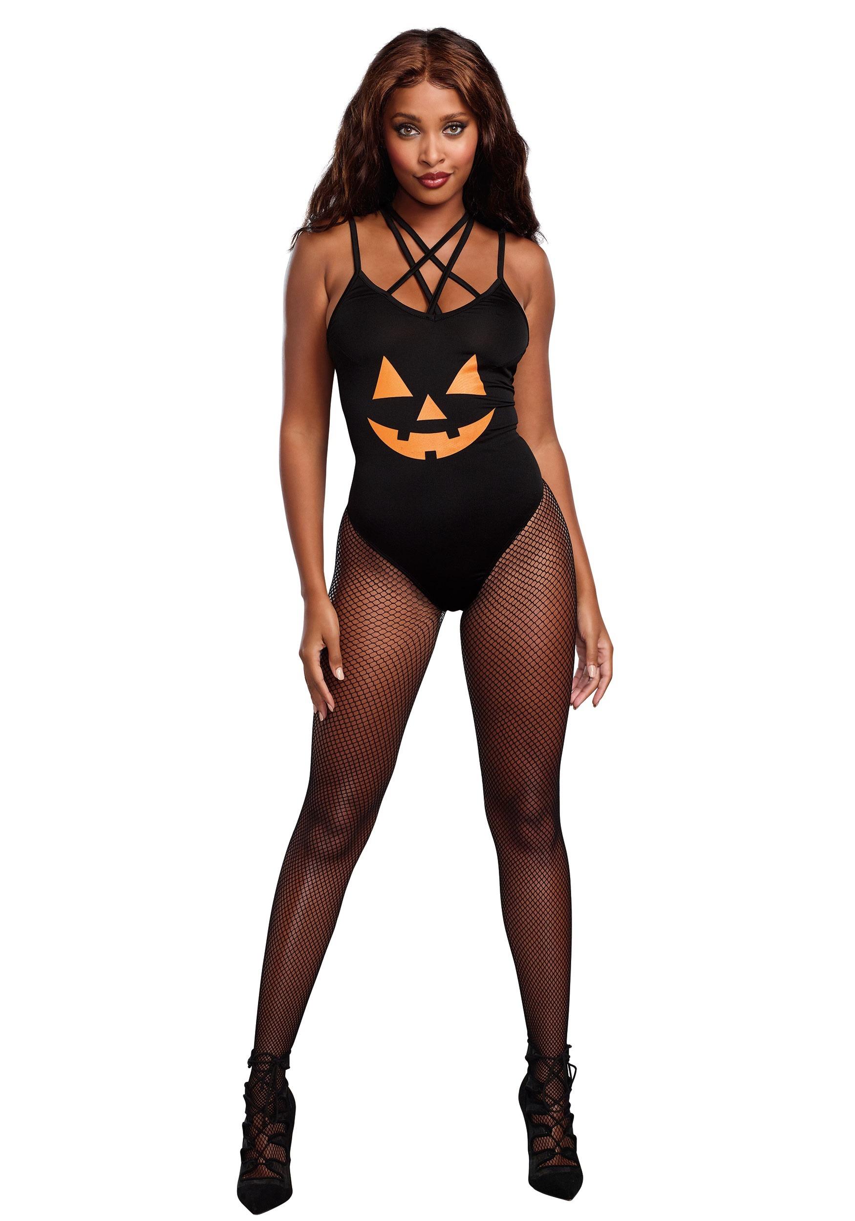 Pumpkin Bodysuit Costume For Women