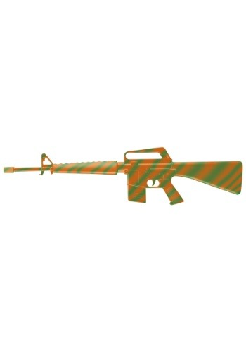 Orange/Green M-16 Machine Gun