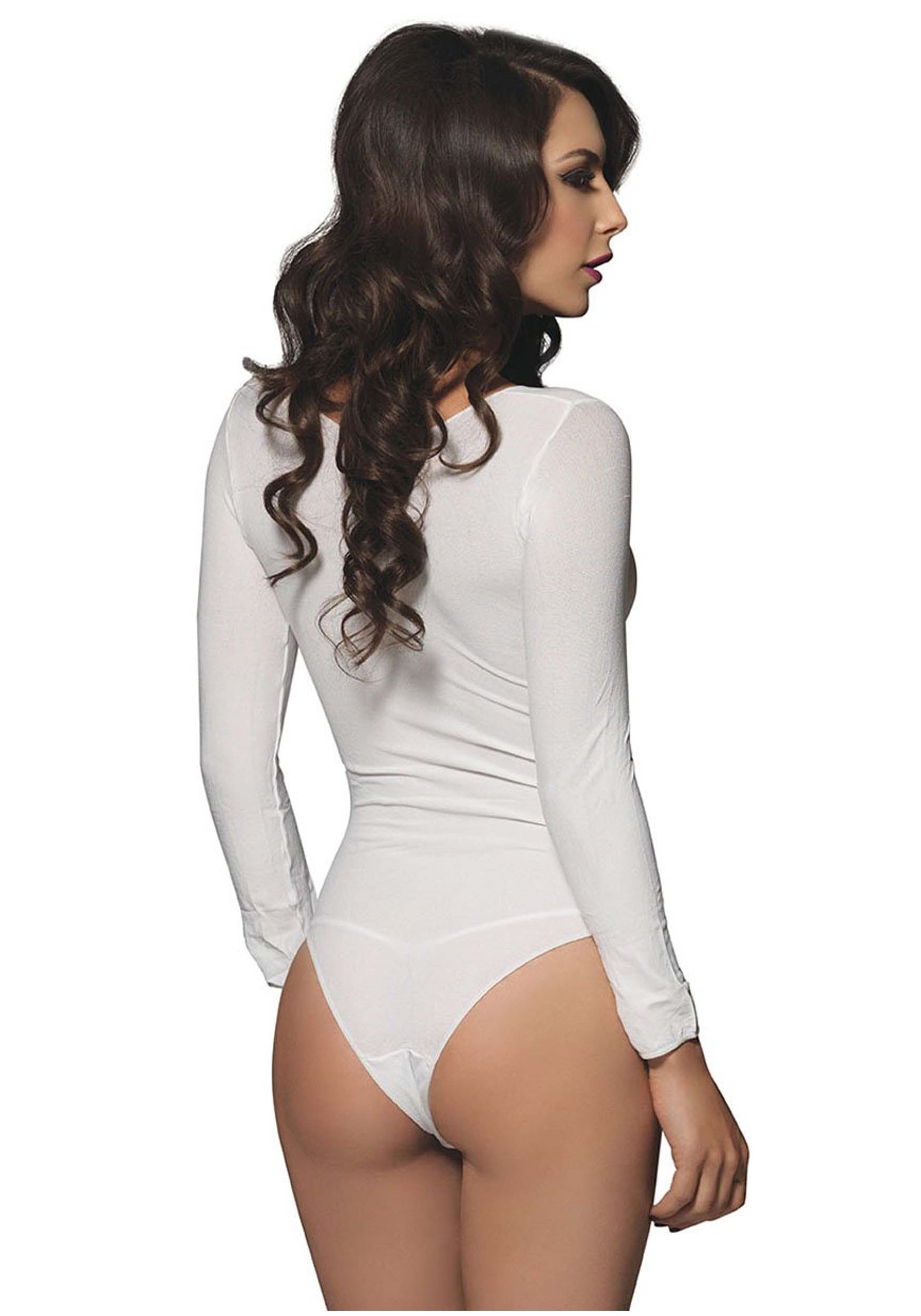 Women s Long Sleeve White Bodysuit Women s Long Sleeve White Bodysuit1 ef77a9796