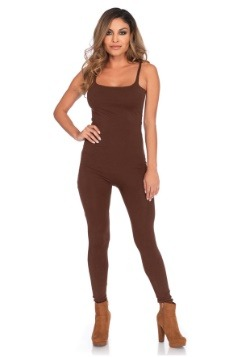 Women's Basic Brown Unitard