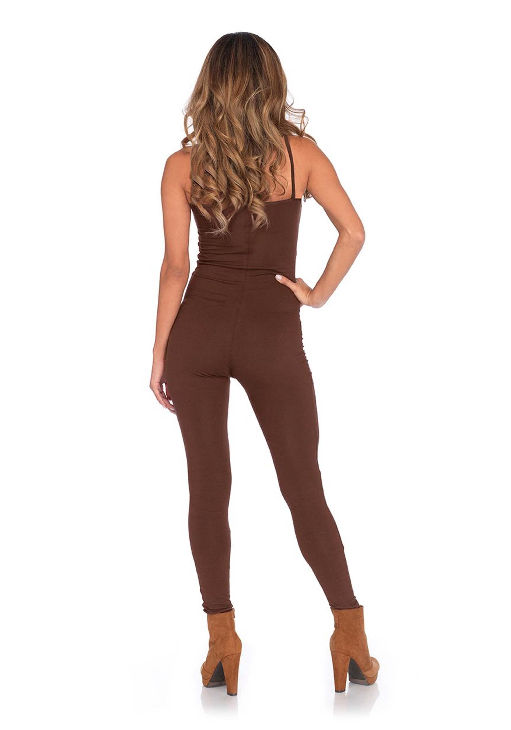 Basic Brown Unitard Costume for Women