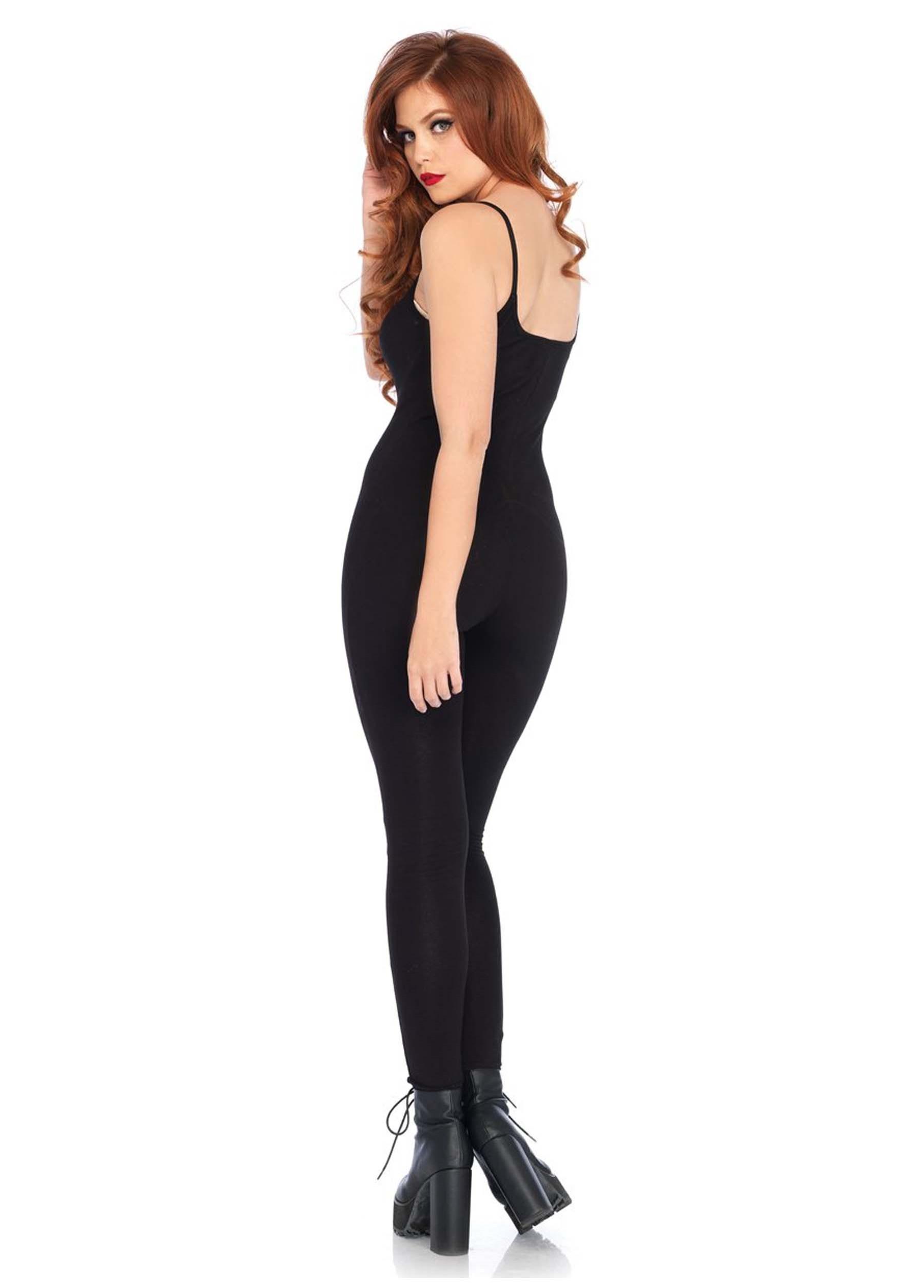 Basic Black Unitard Costume for Women