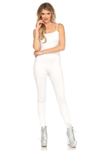 Women's Basic White Unitard
