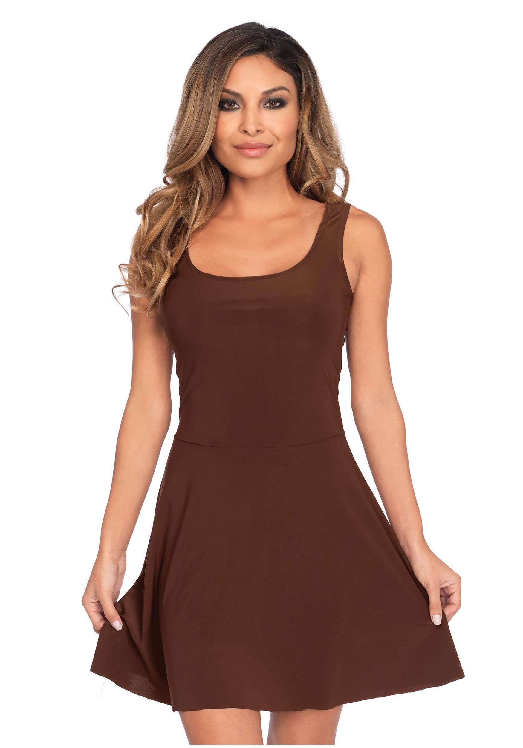 Basic Brown Skater Dress Costume for Women bd3956580