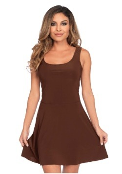 Women's Basic Brown Skater Dress