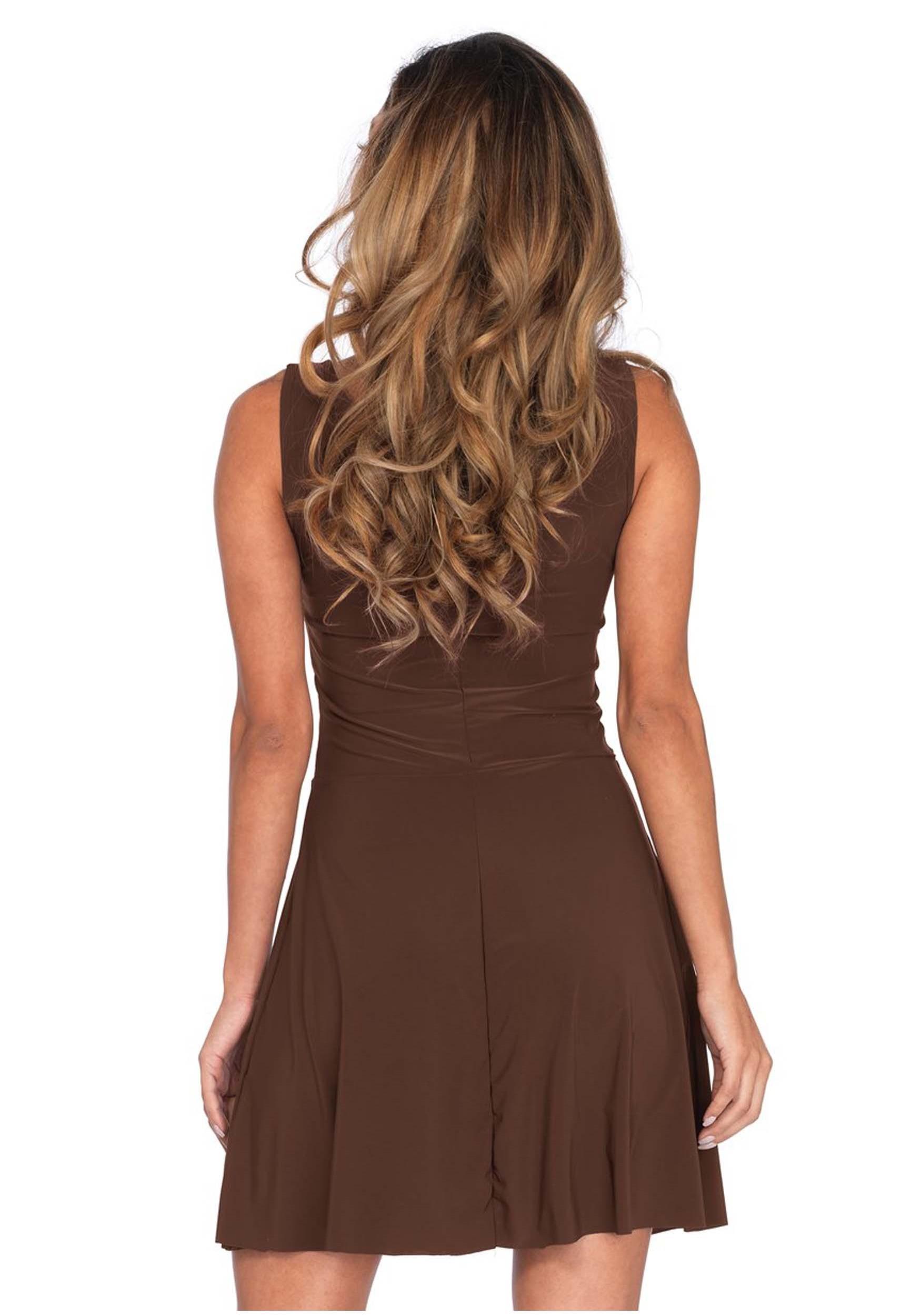 Women s Basic Brown Skater Dress Women s Basic Brown Skater Dress-alt1 bb5a13786
