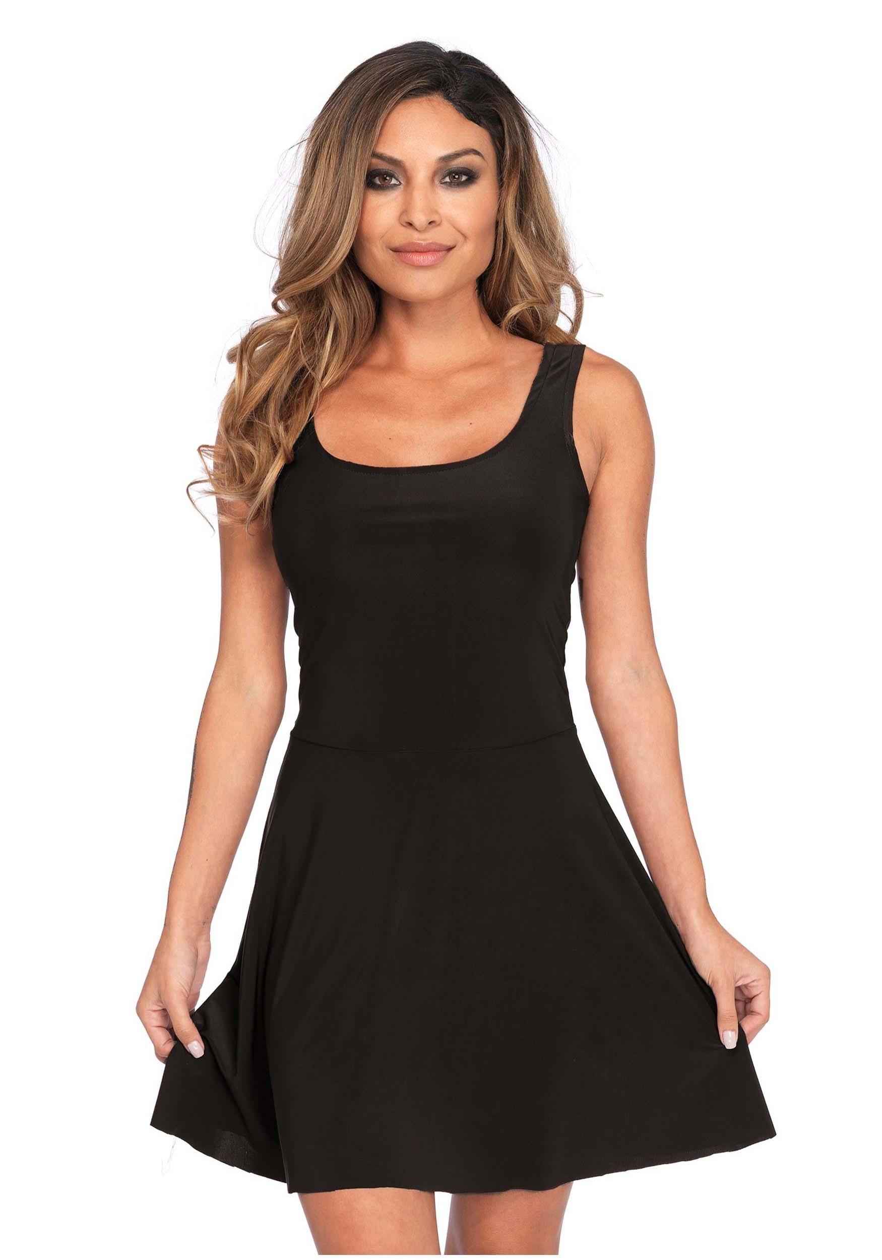 e28ae6be7407a Basic Black Skater Dress Costume for Women