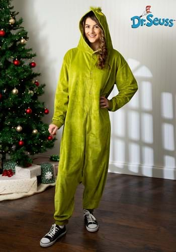 Click Here to buy The Grinch Adult Kigurumi Costume from HalloweenCostumes, CDN Funds