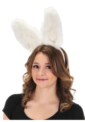 White Bunny Bendable Ears Headband