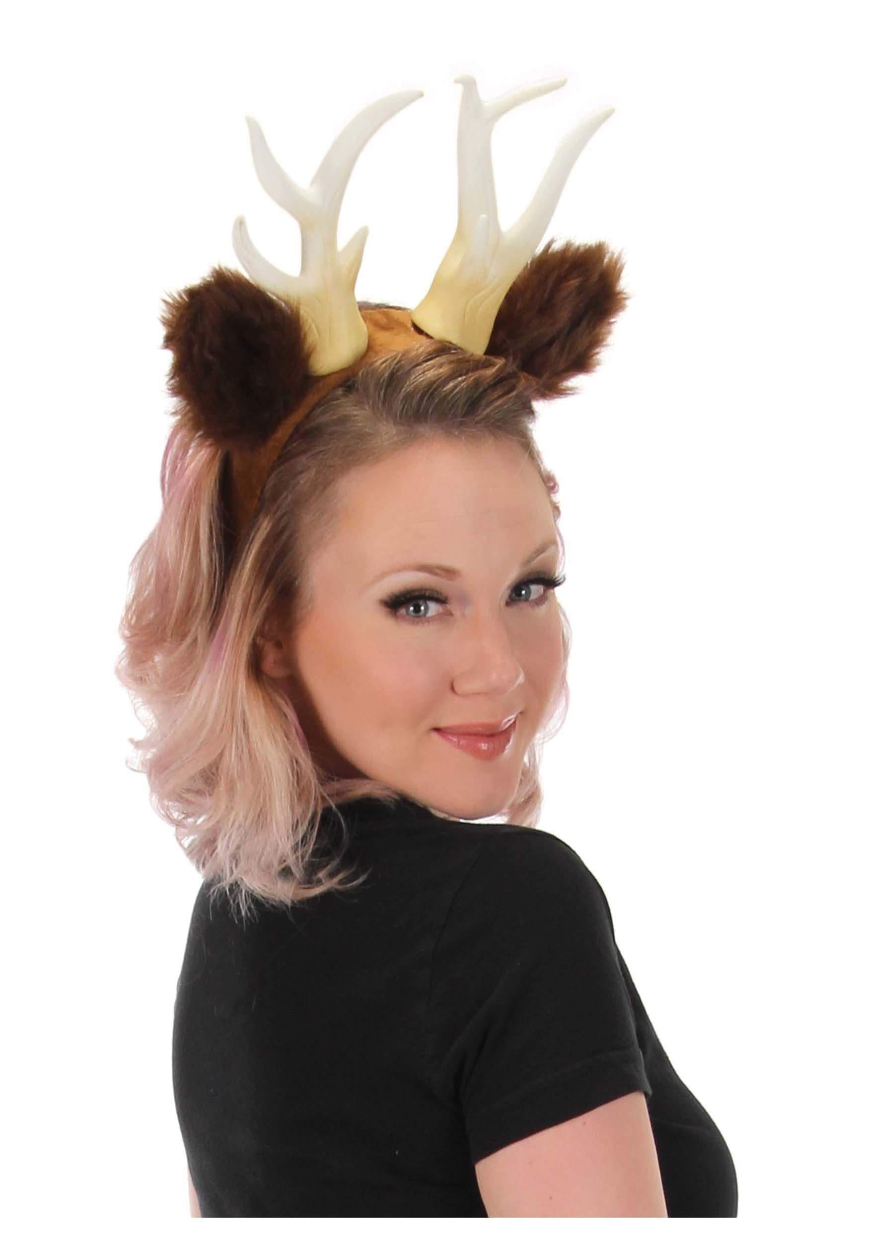 Deer Antlers with Ears Headband  sc 1 st  Halloween Costumes : deer costume ears  - Germanpascual.Com