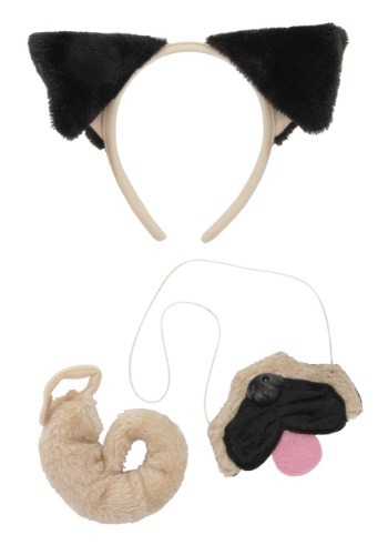 Pug Ears Headband Nose and Tail Kit