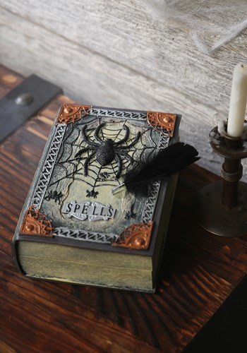 Spellbook with Moving Feather