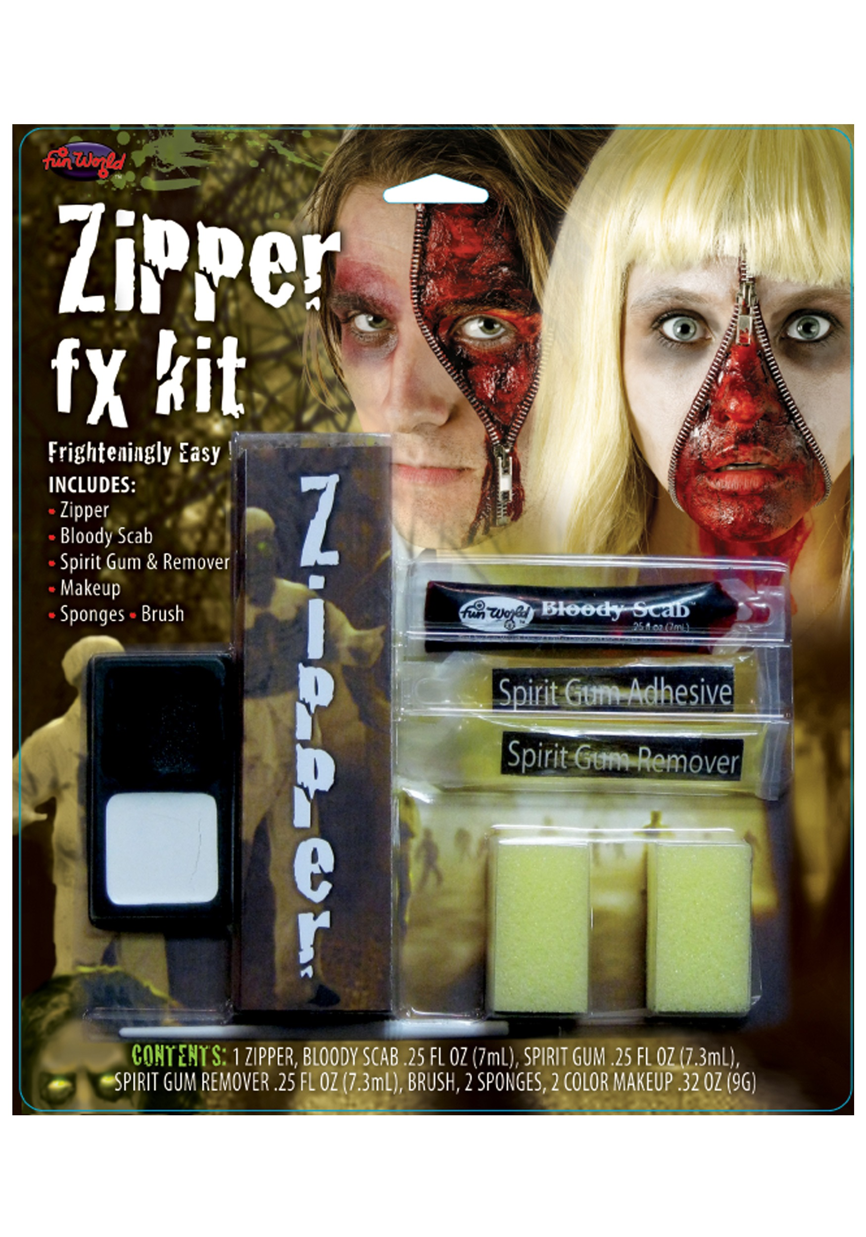 Zipper FX Makeup Kit  sc 1 st  Halloween Costumes & Fun World Zipper FX Makeup Kit