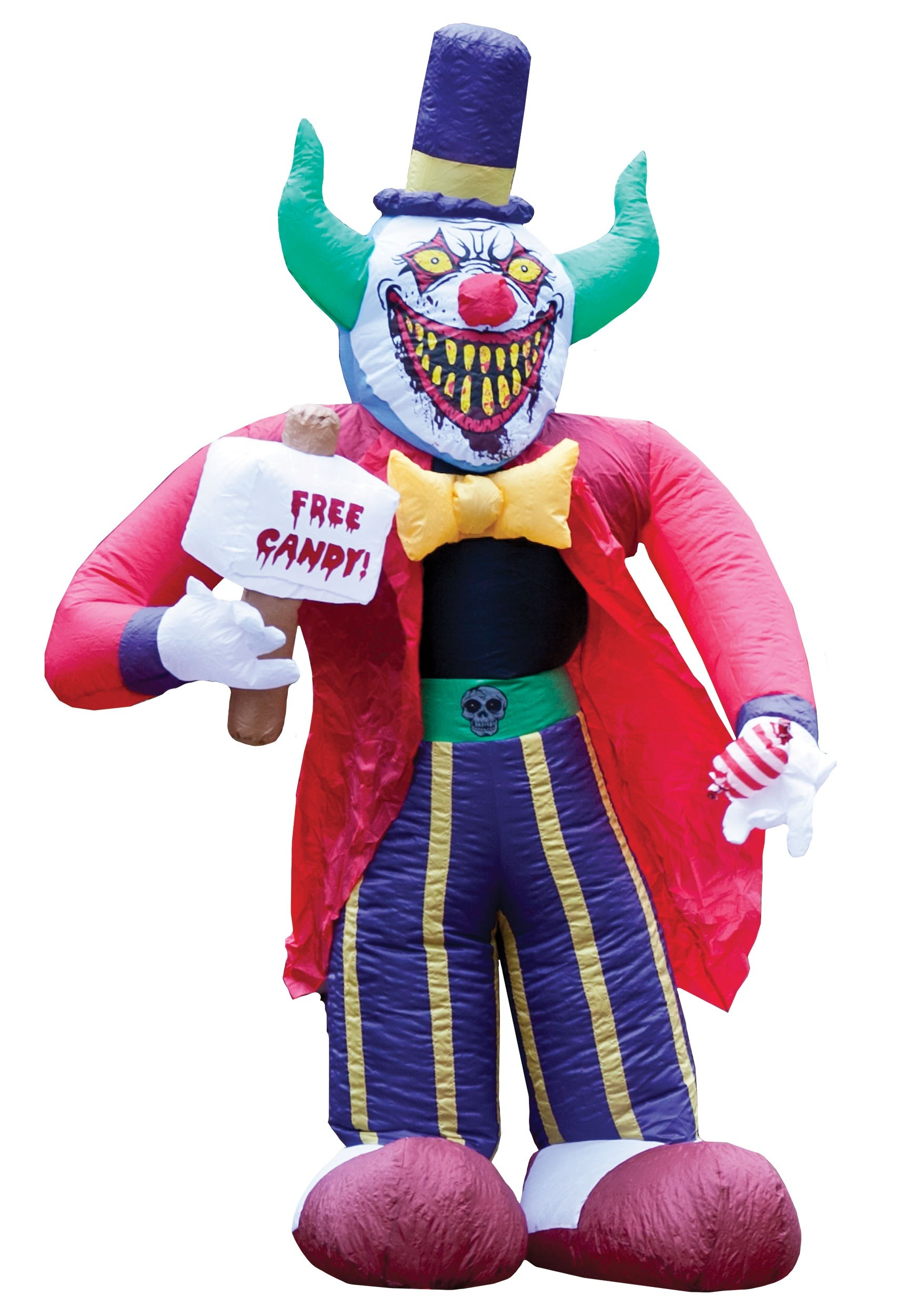 Halloween Haunters 12' LED Inflatable Scary Circus Clown ... |Halloween Clown Inflatables