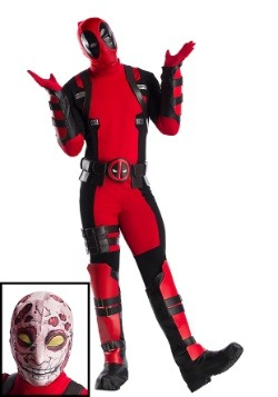 Premium Marvel Deadpool Plus Size Men's Costume-update1