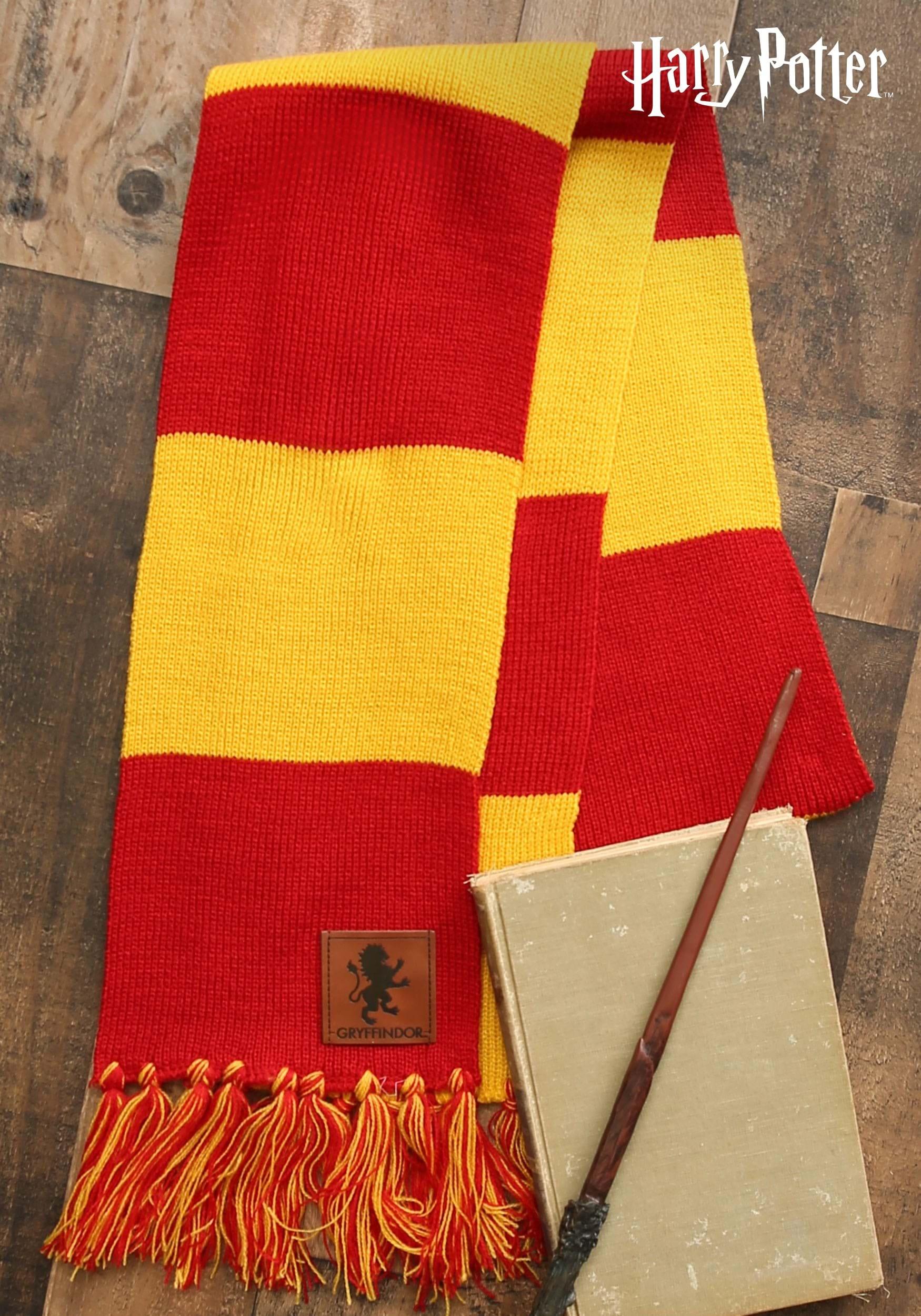15e87da6d04 Harry Potter Gryffindor House Patch Striped Scarf