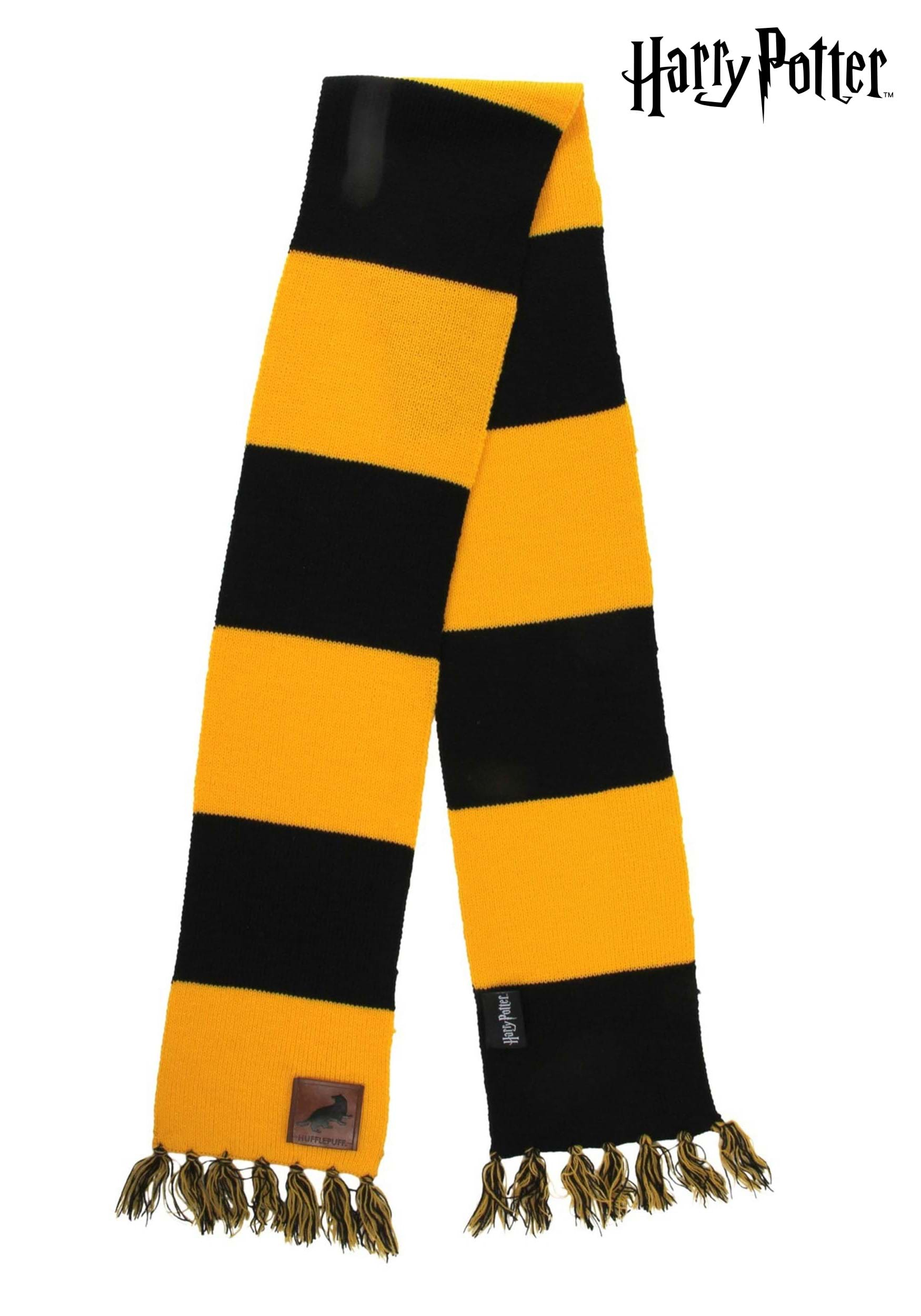 Harry Potter Hufflepuff Patch Striped Scarf