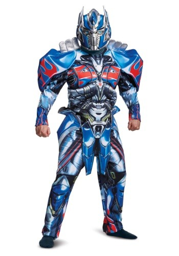 Click Here to buy Adult Transformers 5 Deluxe Optimus Prime Costume from HalloweenCostumes, USA Funds & Shipping