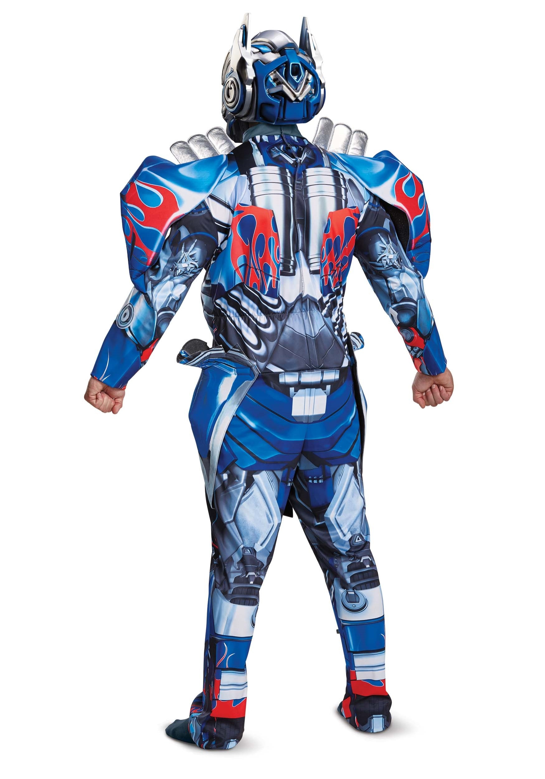 adult transformers 5 deluxe optimus prime costume. Black Bedroom Furniture Sets. Home Design Ideas