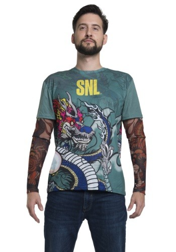SNL Stefon Tattoo Long Sleeve Costume Tee