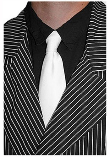 White Gangster Tie for Men