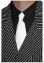 White Gangster Tie - Costume Apparel Costume Apparel