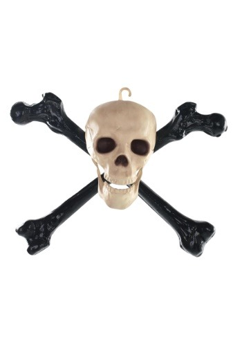 "16"" Skull and Crossbones Halloween Decoration"